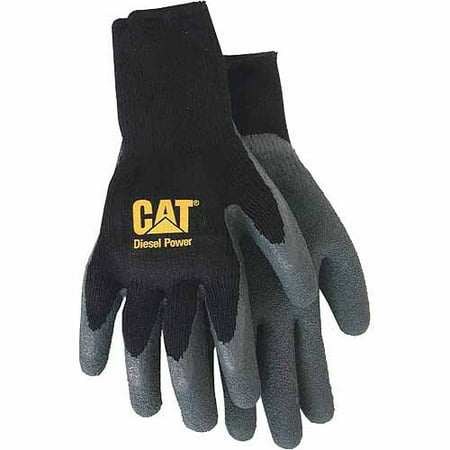 Fully Coated Glove (Cat Gloves Rainwear Boss MFG CAT017410M Medium Black Fully Coated Latex Palm Gloves)