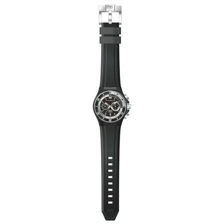 Technomarine TM-115159 Men's Cruise Sport Black Dial Black Silicone Strap Dive Watch