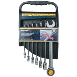 7-PIECE RATCHETING METRIC COMBINATION WRENCH SET
