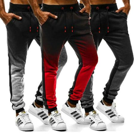 SUNSIOM Men Sport Pants Long Trousers Tracksuit Fitness Workout Joggers Gym Sweatpants Workout Pants Men