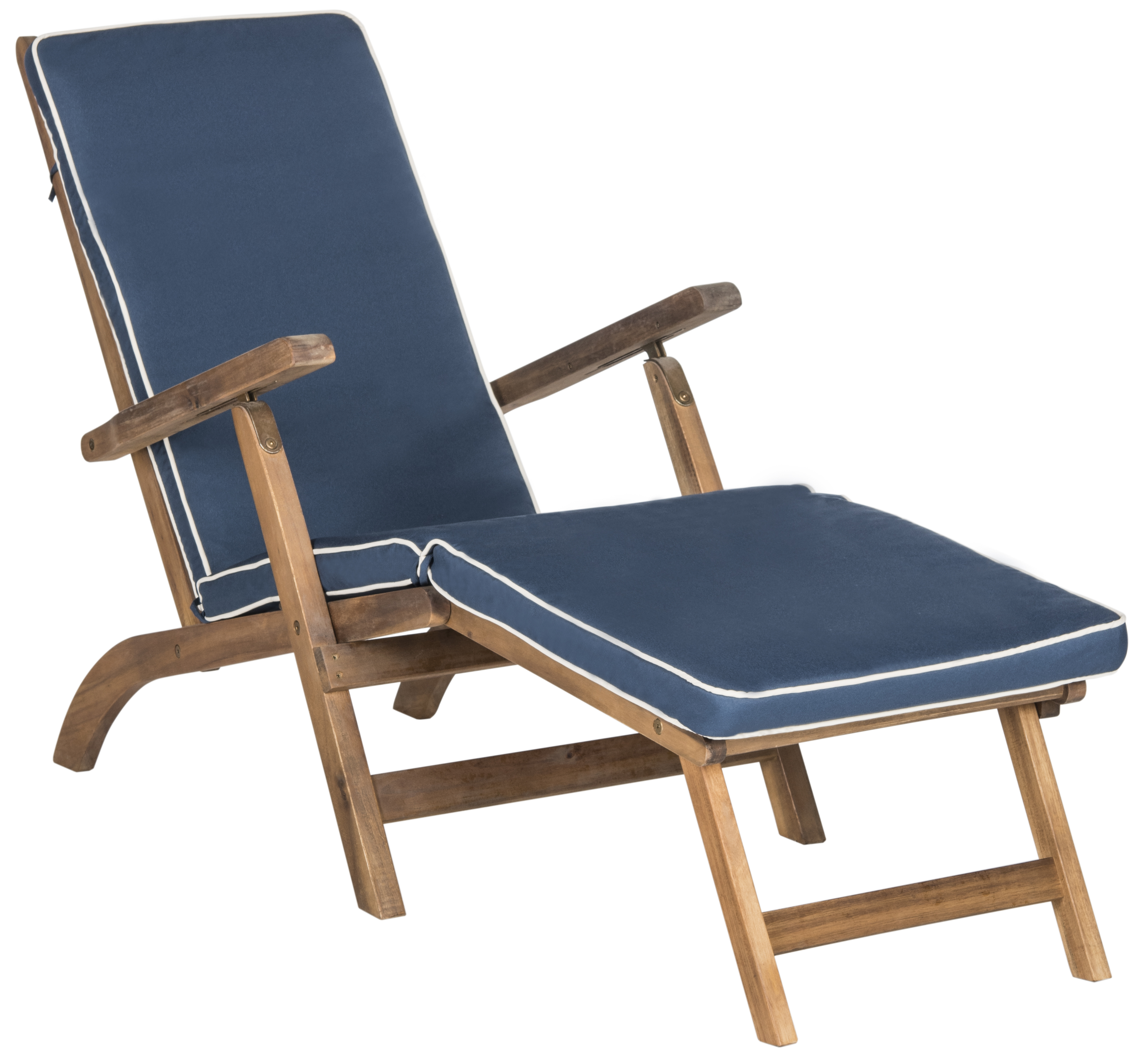 Safavieh Palmdale Outdoor Modern Foldable Lounge Chair with Cushion