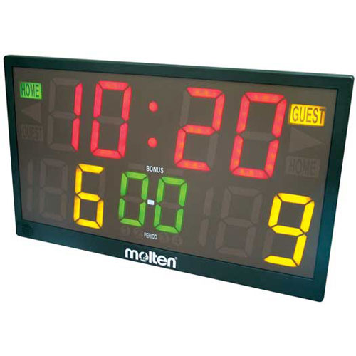 Molten TOP90R Deluxe Digitimer Multi Sport Scoreboard with Wireless Remote