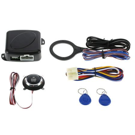 Car Engine Push Start Button RFID Safe Lock Ignition Switch Keyless Entry Starter Anti-theft