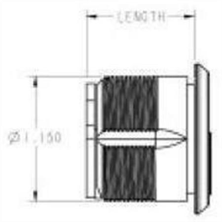 "Baldwin 8326.151 Mortise Lock Cylinder 1-5/8"" Diameter, Antique Nickel"
