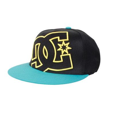 DC Ya Heard Flex Fit Hat Large/X-Large Black/Bluegrass