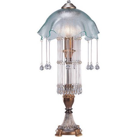 Ok Lighting Gold Silver Color Table Lamp