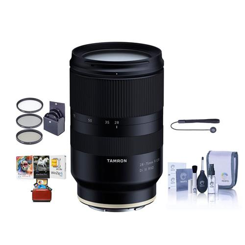 Software Kit Tamron 70-300mm F//4.5-6.3 Di III RXD Lens A047 Sony E-Mount Full-Frame and APS-C Mirrorless Cameras Telephoto Zoom Bundle with Deco Gear Photography Backpack Filter Set Accessories
