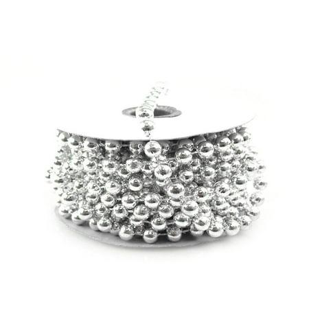 Plastic MOT Pearls Garland Ribbon, 8mm or 5/16-Inch, 8-Yard, Silver](Pearl Garland)