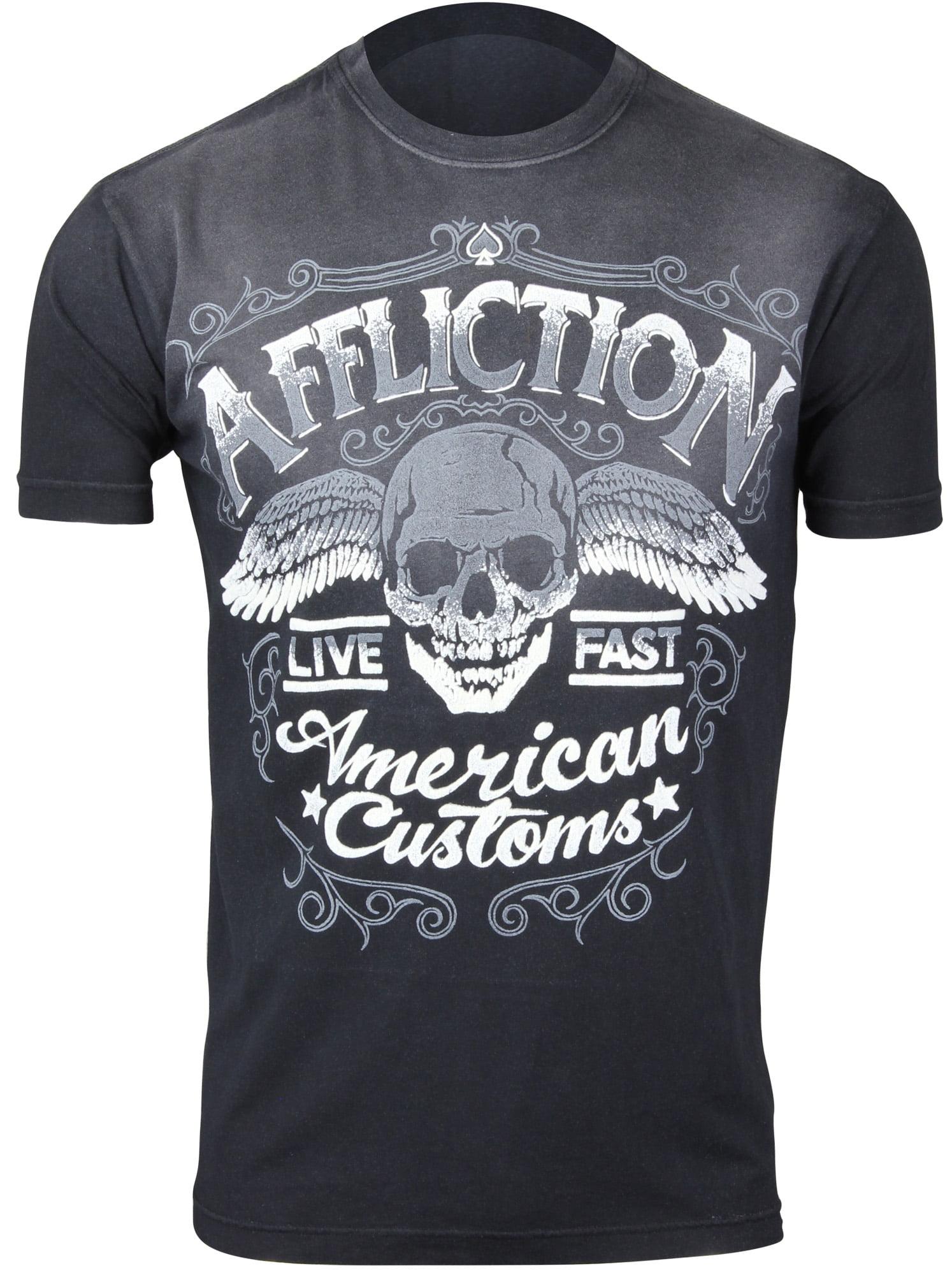 Affliction T-shirt AC crude Blu T-shirts