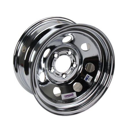 15 X 8 Wheels (15 x 8 IMCA Chrome Wheel 4 BS, Non-Beadlock, 5x4.5 )
