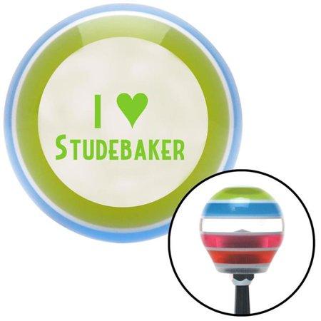 Green I Love Studebaker Multicolor Stripe Shift Knob with M16 x 1.5 Insert Shifter Auto Manual Brody - image 1 de 1