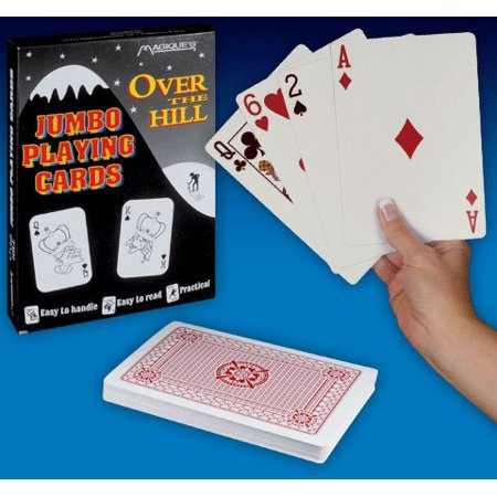 Over The Hill Gifts (Over The Hill - Playing Cards - Jumbo Size, Approx. 7x5 Inches, Fun novelty gift; helpful for visually challenged By Magique)