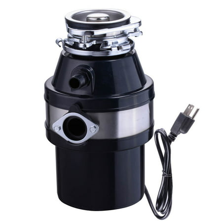 Yescom 1 HP 2600 RPM Garbage Disposal Continuous Feed Household for Kitchen Waste Disposer Operation With Plug Black