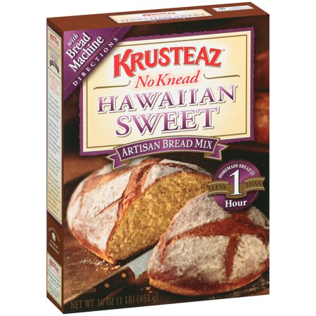 (2 Pack) Krusteaz No Knead Hawaiian Sweet Artisan Bread Mix, 16-Ounce Box