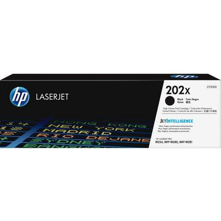 HP, HEWCF500X, 202X High Yield Black Original LaserJet Toner Cartridge, 1 Each