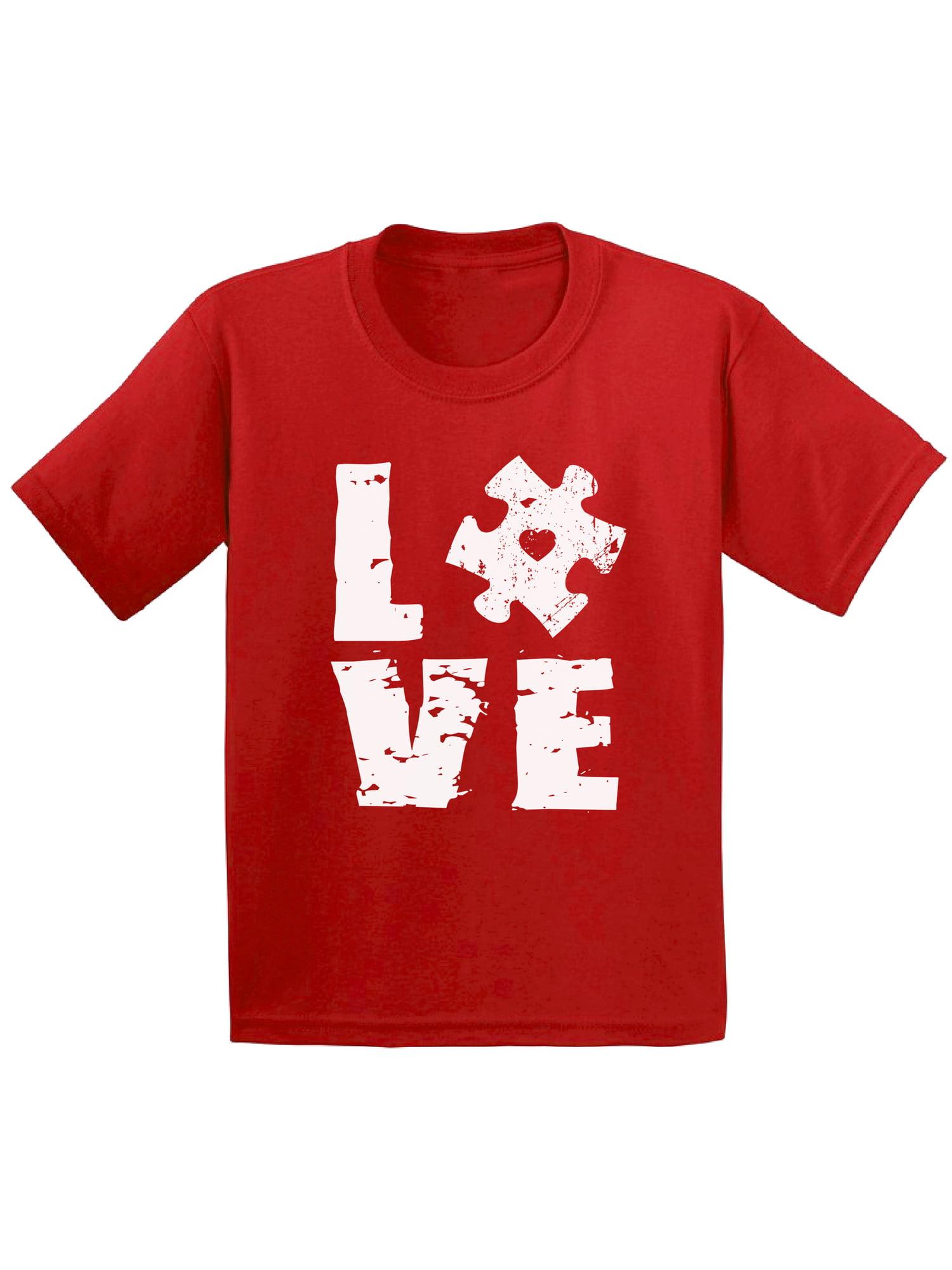 Awkward Styles Love Puzzle Toddler Shirt Autism Awareness Shirts for Kids Autism Love Puzzle T Shirt Autism Awareness Puzzle Tshirts for Kids Autism Toddler Shirts Autism Gifts for Boys and Girls