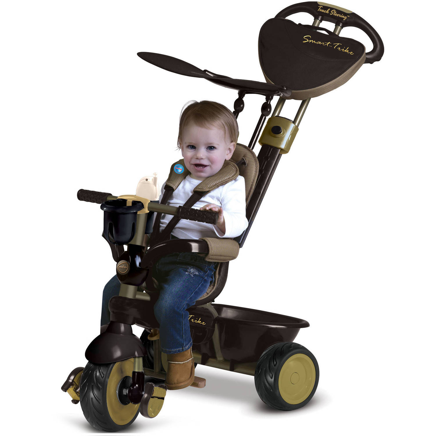 8b77268c990 smarTrike Dream 4-in-1 Tricycle, Gold - Walmart.com
