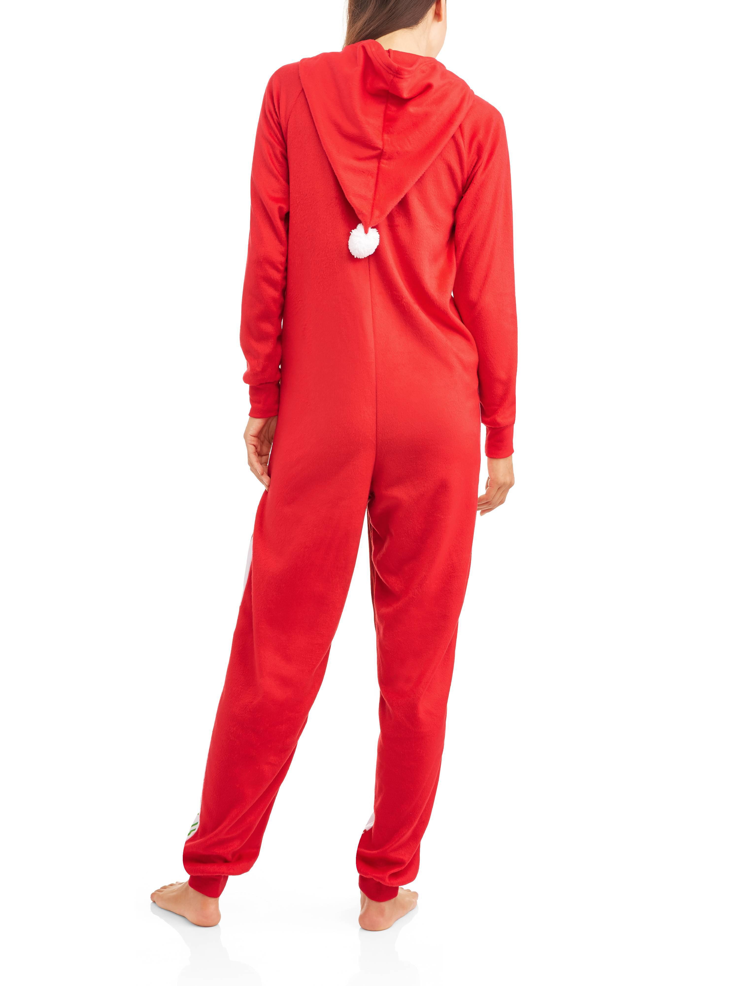 0d00160a35 Elf on Shelf - Elf on the Shelf Women s and Women s Plus Licensed Sleepwear  Adult One Piece Costume Union Suit Pajama (XS-3X) - Walmart.com