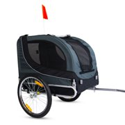 New Pet Bicycle Trailer Dog Carrier Dark Gary