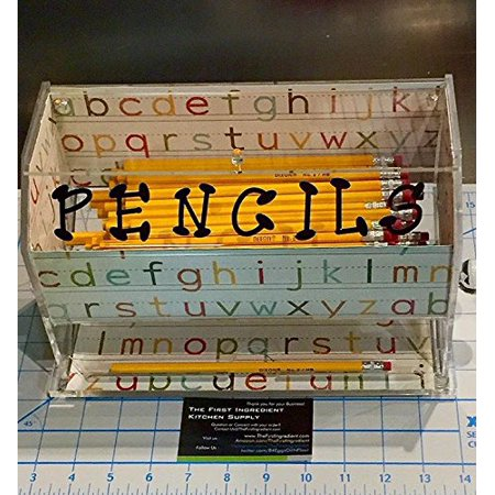 Pencil Dispenser (Pen and Pencil Dispenser Clear Acrylic Teachers Favorite Ready to Decorate - As Seen on)