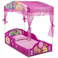 Disney Princess Plastic Sleep and Play Toddler Bed with Canopy by Delta Children