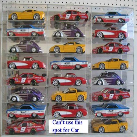 NASCAR Display Case Diecast Car 1/24 scale 23 Compartment (AHW24-24)