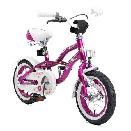 BIKESTAR Original Premium Safety Sport Kids Bike with sidestand and accessories for age 3 year old children   12 Inch Cruiser Edition for girls   Creamy