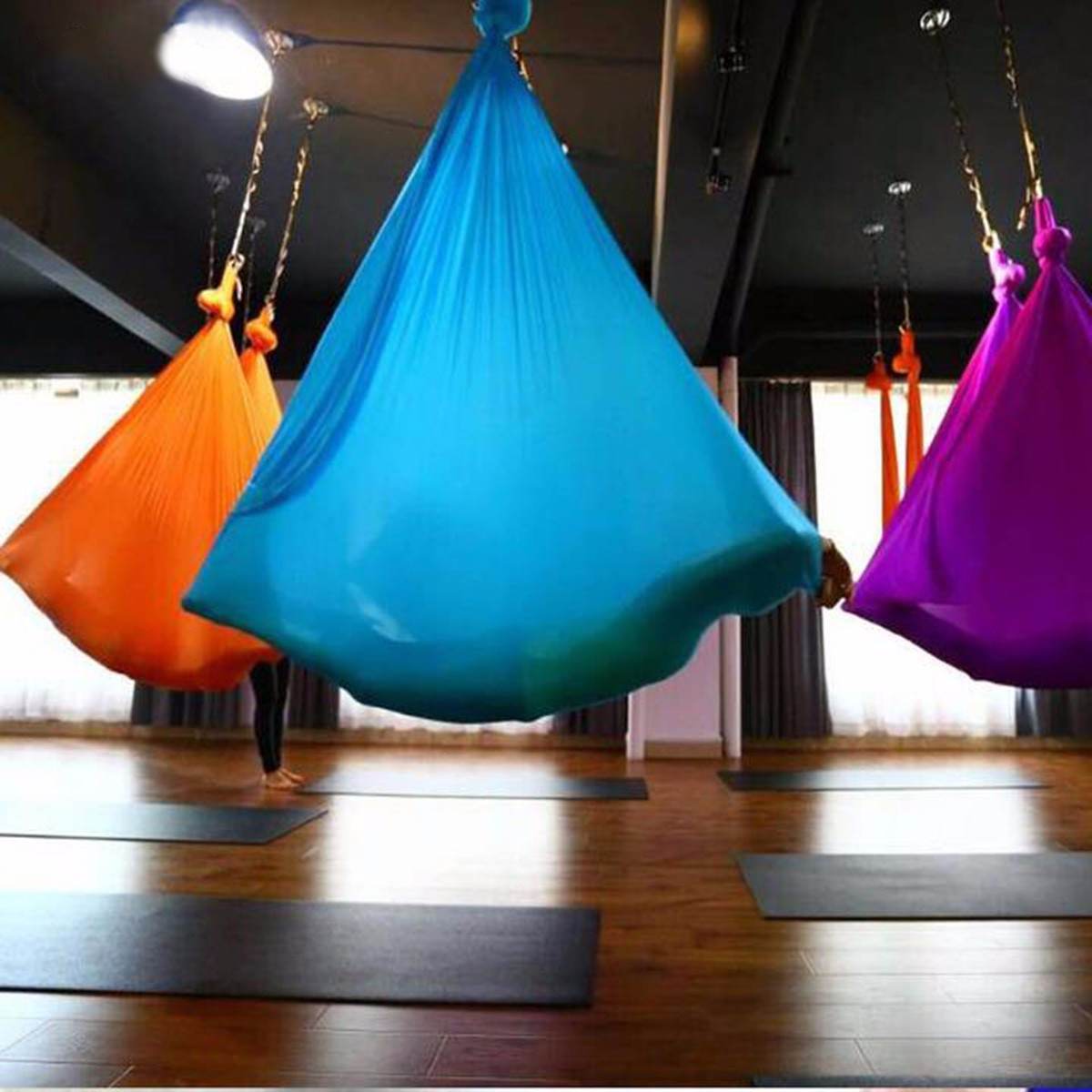 5x2.8m Elastic Yoga Hammock Anti-Gravity Swing Sling Aerial Inversion Strap Prop