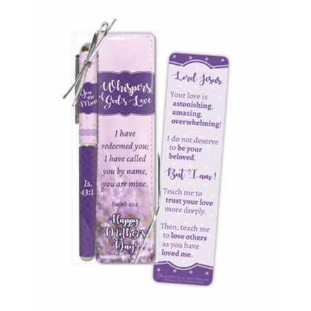 - Christian Tools of Affirmation 145903 Pen & Mothers Day Bookmark Set - Whispers of Gods Love Isaiah 43-1 ESV