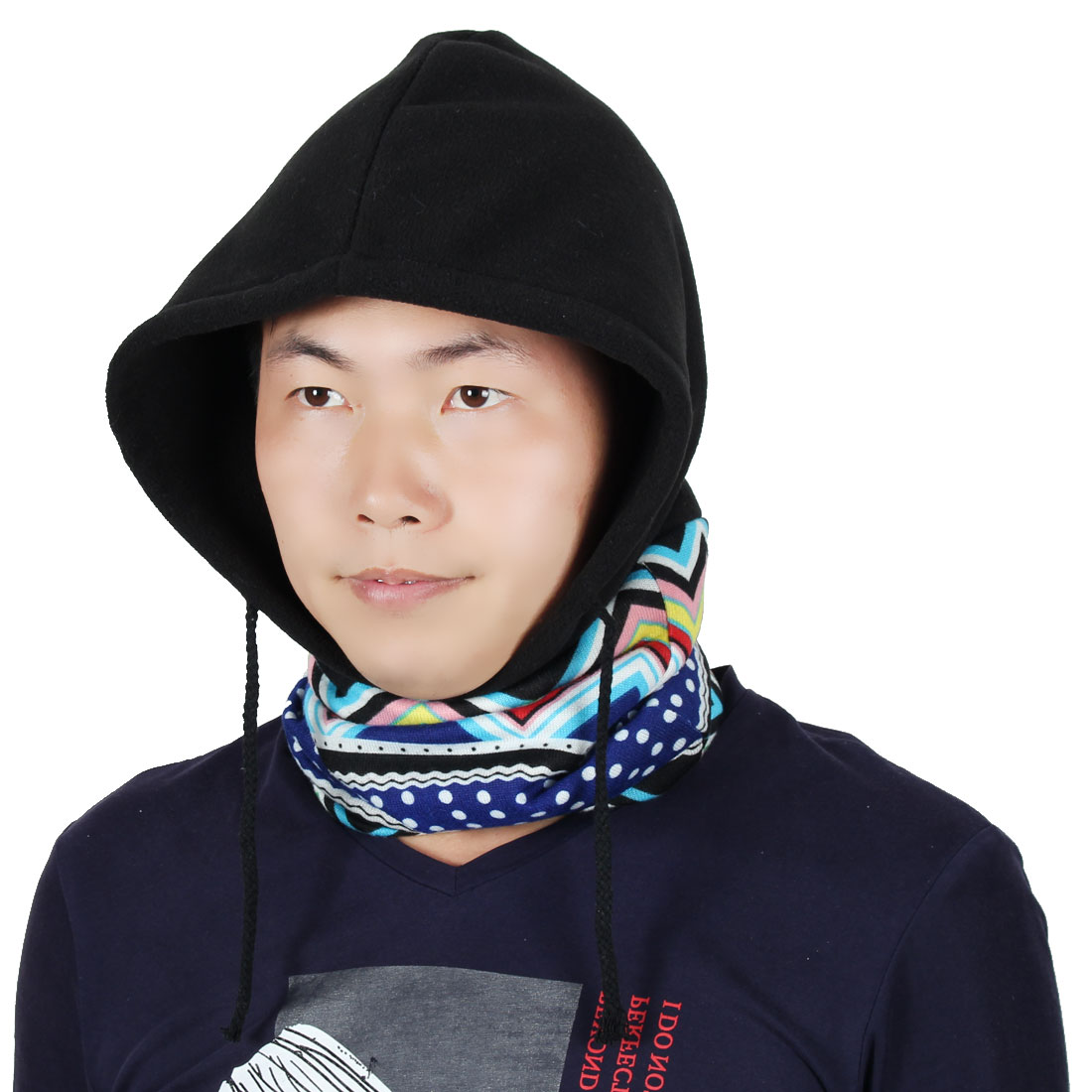 Adjustable Rope Double Layer Head Wrap Neck Protector Hood Balaclava Multicolor by Unique-Bargains