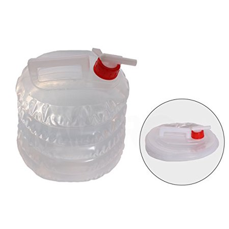 Collapsible Water Jug (5 Quarts/1.25 Gallon) Camping, Hiking, Hunting, Fishing, Climbing, Emergency & Disaster Kits - Water Shut Spout (Best Water Storage For Emergencies)