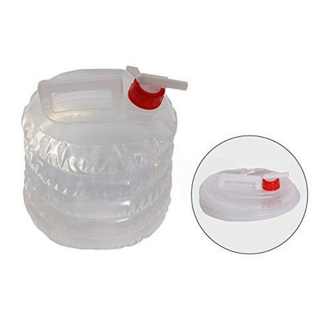 Collapsible Water Jug (5 Quarts/1.25 Gallon) Camping, Hiking, Hunting, Fishing, Climbing, Emergency & Disaster Kits - Water Shut Spout - Collapsible Stock Kit