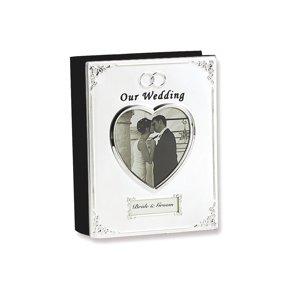 mbi silver wedding photo album 9 75 x6 75 walmart com