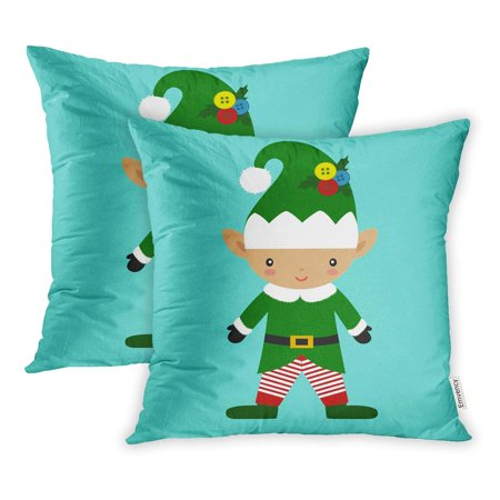 YWOTA Character Christmas Elf New Year Animated Belt Pillow Cases Cushion Cover 16x16 inch