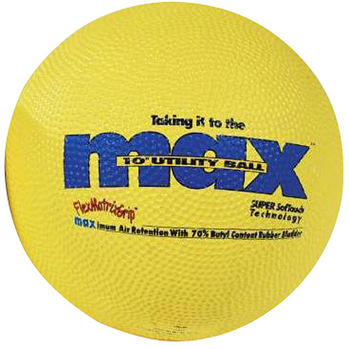 "SportimeMax Kickball and Utility Ball, 10"", Yellow"
