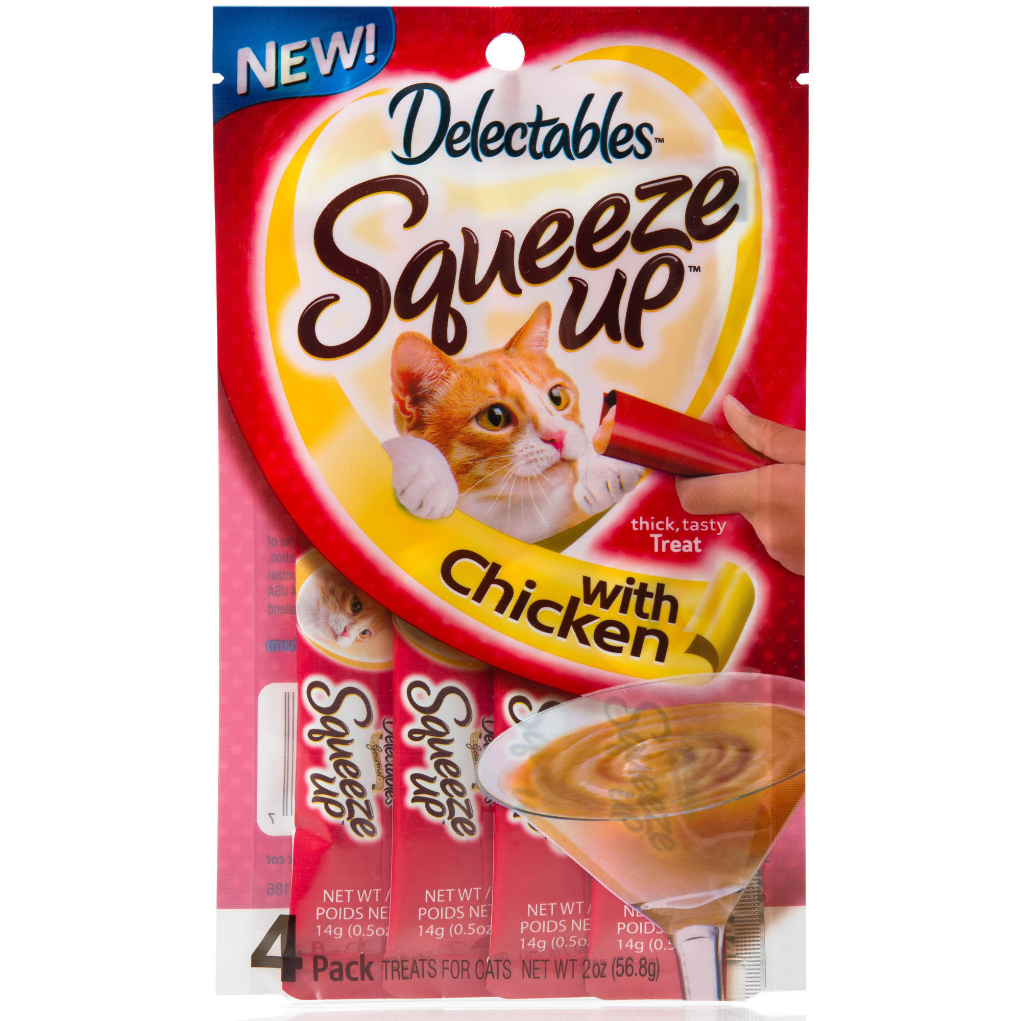 Delectables Squeeze Up Cat Treats Chicken Flavor, 4 Count
