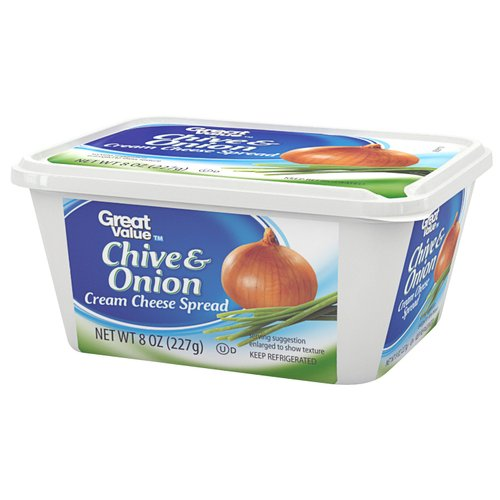 Great Value Chive & Onion Cream Spread Cheese, 8 oz