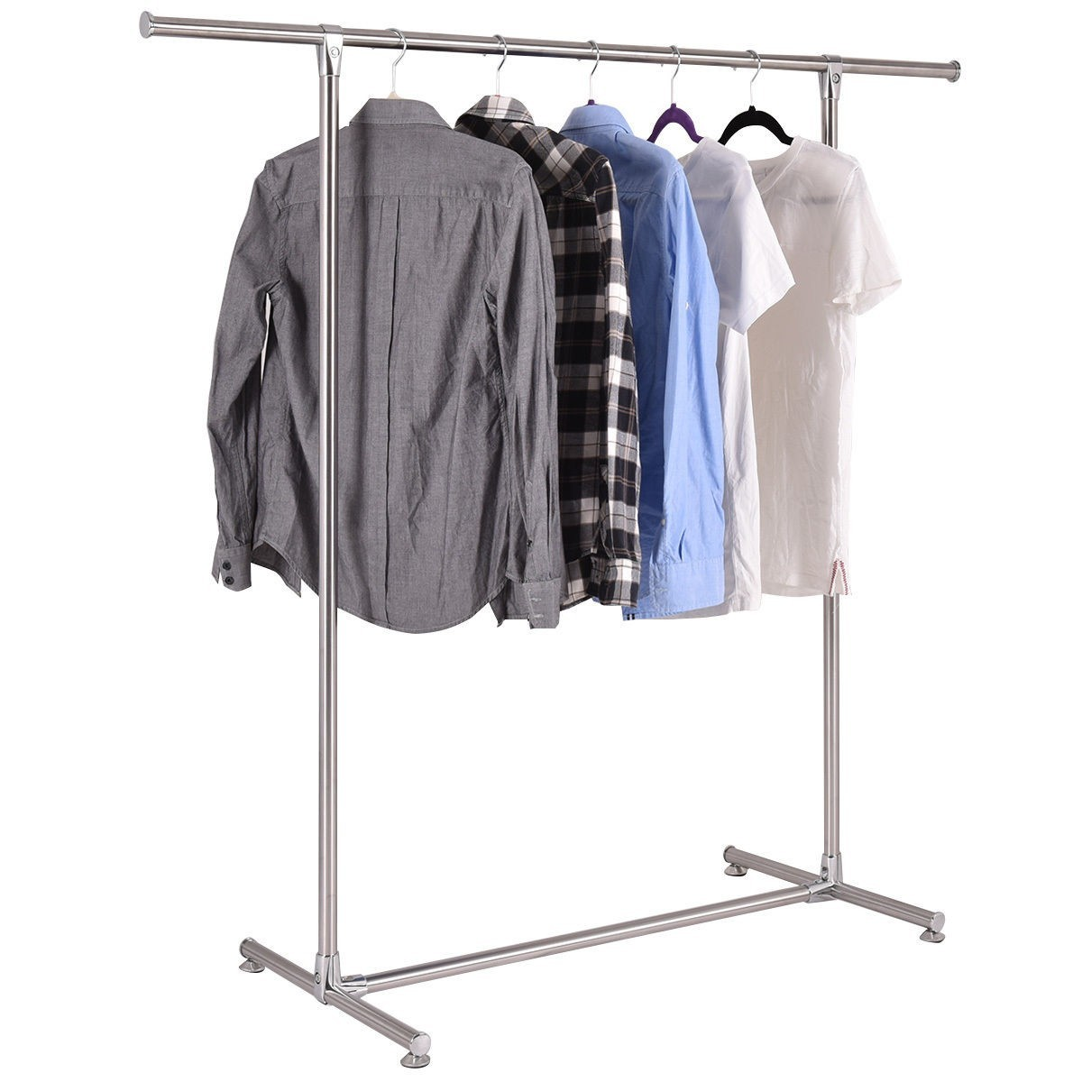 Heavy Duty Stainless Steel Garment Rack Clothes Hanging Drying Display Rail