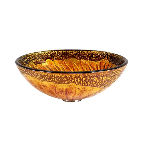RIVUSS Handcrafted Tempered Glass Vessel Sink