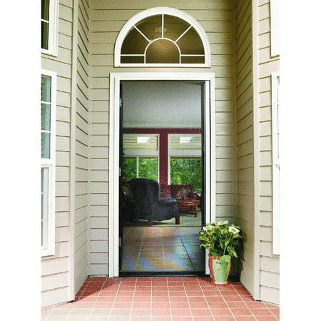 Larson escape retractable screen door for Cheap retractable screen doors