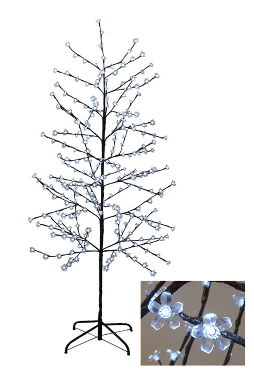 6' Enchanted Garden LED Lighted Cherry Blossom Flower Tree - Pure White Lights