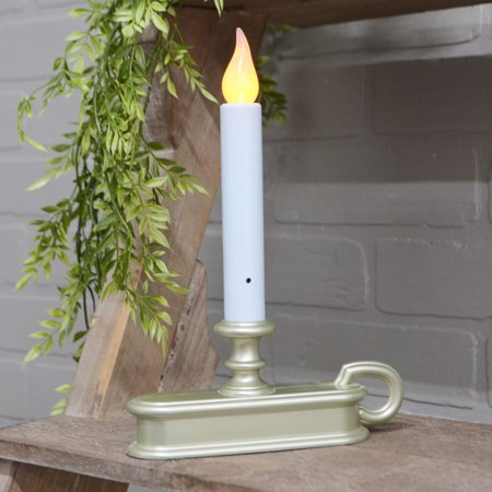 Christmas Lights Window Candle with Amber LED Battery Op ...