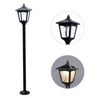 "42"" Mini Street Vintage Outdoor Garden Triple Solar Lamp Post Light Lawn - Adjustable (Pack 1)"