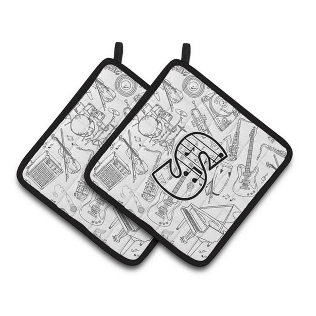 Carolines Treasures CJ2007-SPTHD Letter S Musical Note Letters Pair of Pot Holders, 7.5 x 3 x 7.5 in. - image 1 de 1