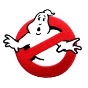 """Superheroes Ghostbusters 4"""" Movie Logo Embroidered Iron/Sew-on Applique Patch"""
