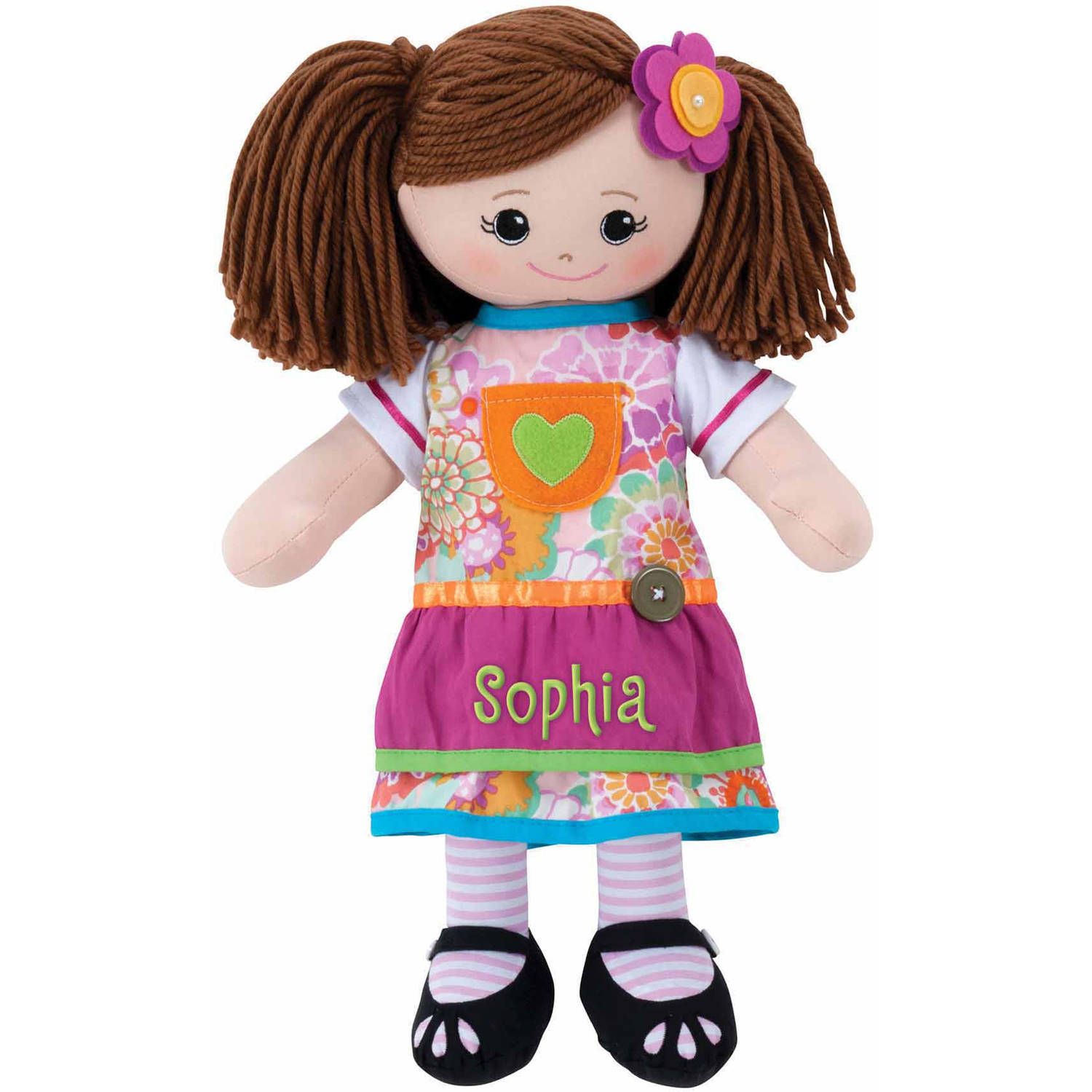 Personalized Doll With Dress and Hair Clip