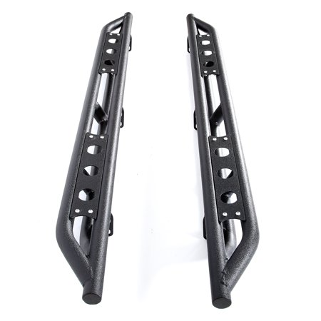 WALFRONT For Chevy Silverado Extended Cab 2007-2018 Black 6 In Side bars Side Armor, Side Armor Protectors,Side