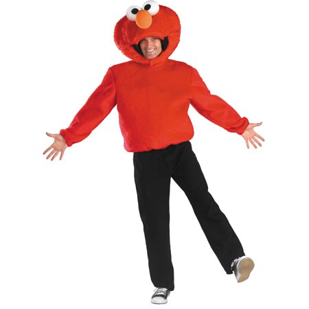 Elmo Adult Halloween Costume, Size: Men's 42-46 - One Size