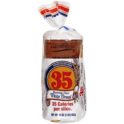 Earthgrains 35 Vegetable Fiber Reduced Calorie White Bread, 16 oz