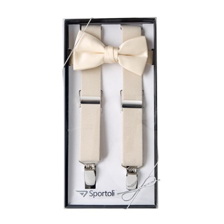 8f40ff9baf71 Sportoli Boys' and Girls' Kids Toddlers and Baby Adjustable Elastic Solid  Color Fashion Suspenders and Bow Tie Gift Set for Wedding and Ring Bearer  Outfits, ...